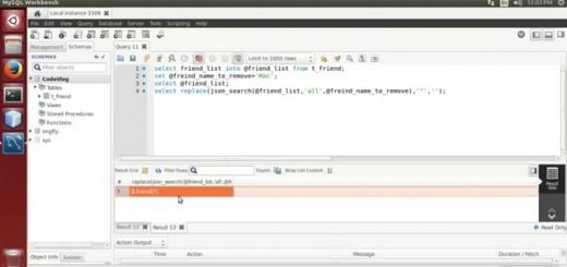 MySQL 5.7: Remove element from JSON string using MySQL