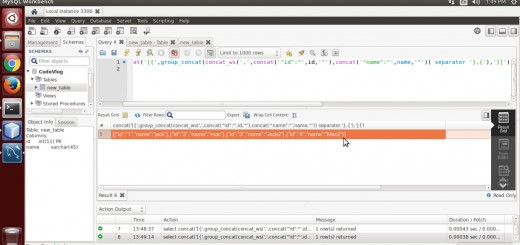 Create JSON using MySQL Query (without JSON function)