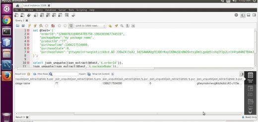 Extract INAPP_PURCHASE_DATA values using MySQL JSON